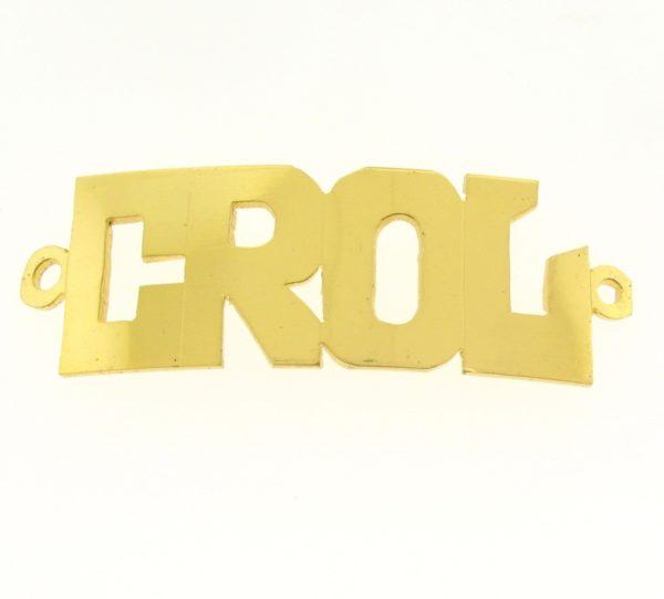 # 9722 - 14K Gold Filled Name Plate For Bracelet - CROL