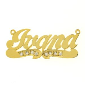 # 9608 - 14K Gold Filled Name Plate For Necklace - Ivana