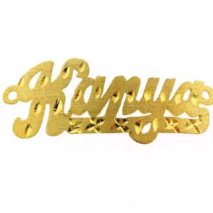 # 9729 - 14K Gold Filled Name Plate For Bracelet - Kanya