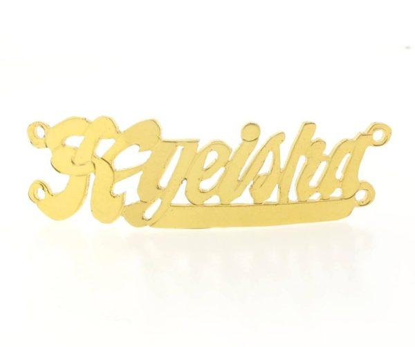 # 9707 - 14K Gold Filled Name Plate For 2 Line Bracelet - Kyeisha