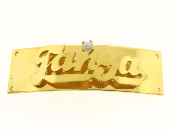 # 9713 - 14K Gold Filled Name Plate For 2 Line Bracelet - Tanya