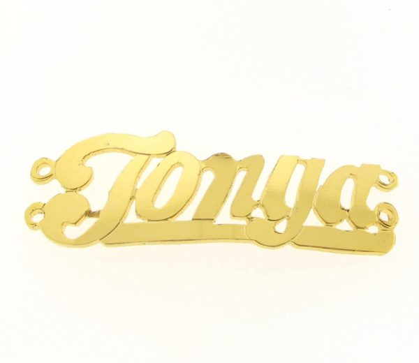 # 9715 - 14K Gold Filled Name Plate For 2 Line Bracelet - Tonya
