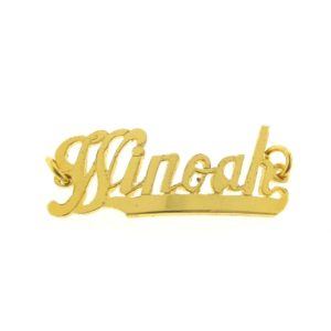 # 9736 - 14K Gold Filled Name Plate For Bracelet - Winoah