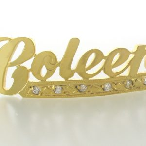 # 9721 - 14K Gold Filled Name Plate For Bracelet - Coleen