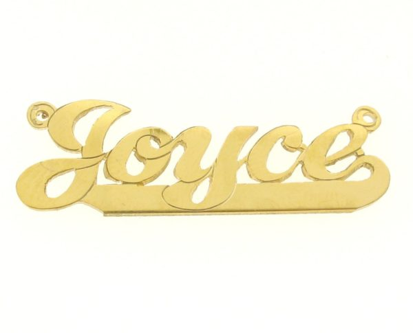 # 9613 - 14K Gold Filled Name Plate For Necklace - Joyce
