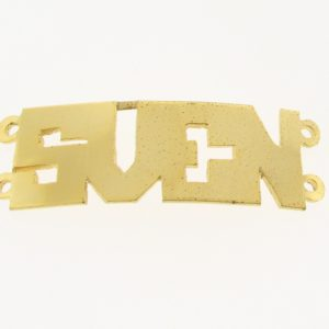 # 9712 - 14K Gold Filled Name Plate For 2 Line Bracelet - SVEN