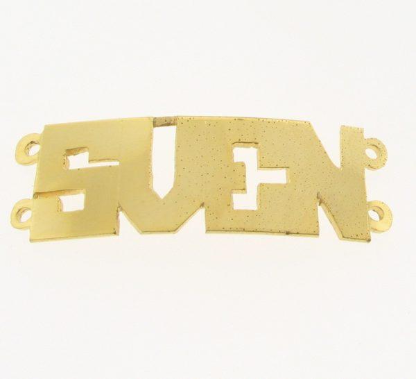 # 9712 - 14K Gold Filled Name Plate For 2 Line Bracelet - SVEN