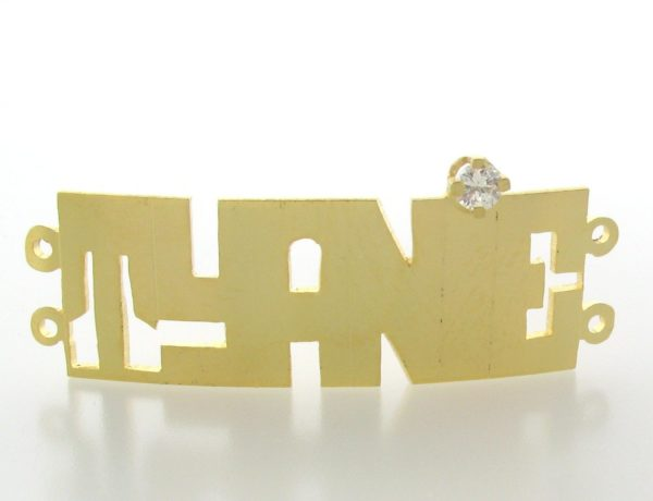 # 9716 - 14K Gold Filled Name Plate For 2 Line Bracelet - Tyanie