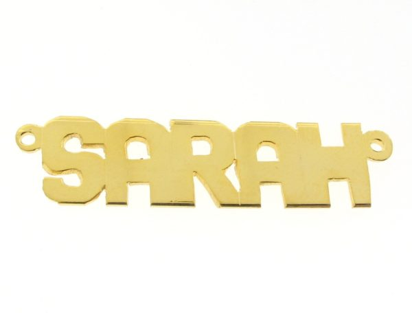 # 9620 - 14K Gold Filled Name Plate For Necklace - SARAH