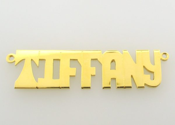 # 9621 - 14K Gold Filled Name Plate For Necklace - TIFFANY