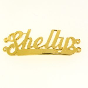 # 9711 - 14K Gold Filled Name Plate For 2 Line Bracelet - Shelly