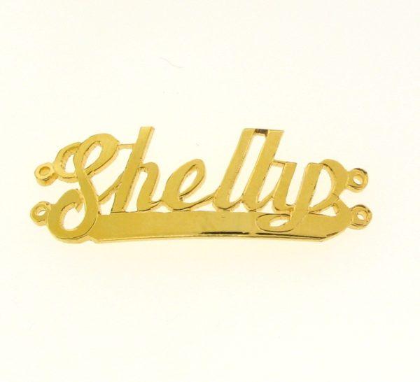 # 9711 - 14K Gold Filled Name Plate For 2 Line Bracelet - Shelly