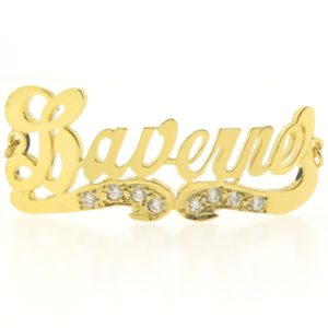 # 9730 - 14K Gold Filled Name Plate For Bracelet - Laverne