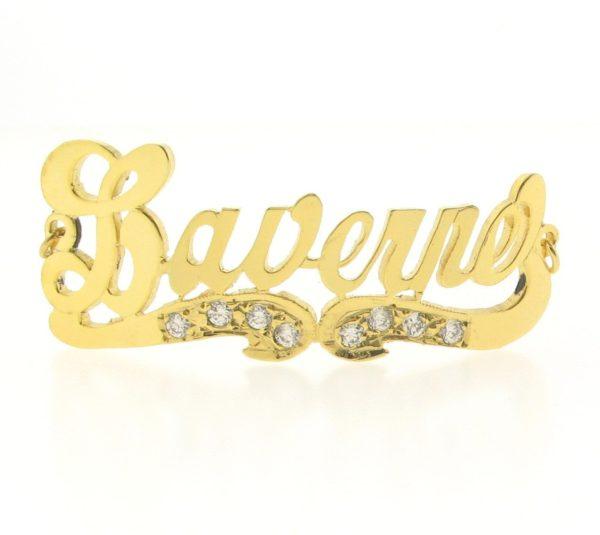 # 9730 - 14K Gold Filled Name Plate For Bracelet - Laverne