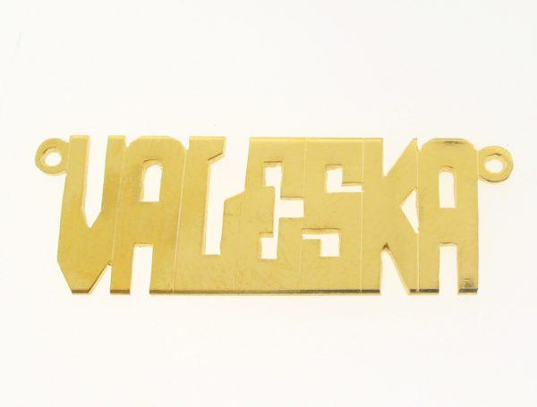 # 9622 - 14K Gold Filled Name Plate For Necklace - VALESKA