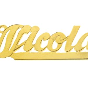 # 9617 - 14K Gold Filled Name Plate For Necklace - Nicola