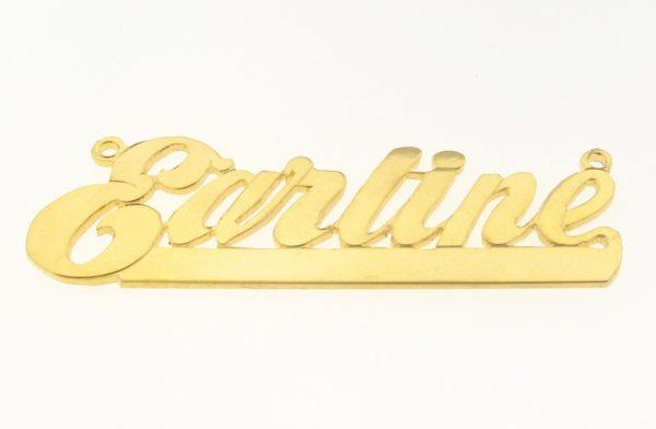 # 9606 - 14K Gold Filled Name Plate For Necklace - garline
