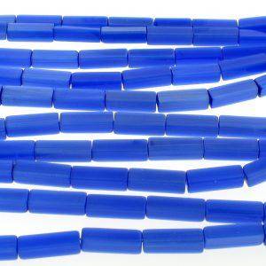 "9511 - 4x13mm Rectangle Cat's Eye Beads (16"" Strand)-Sapphire"