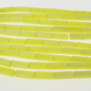 "9511 - 4x13mm Rectangle Cat's Eye Beads (16"" Strand)- Light Yellow"