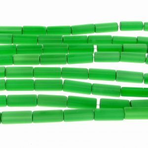 "9511 - 4x13mm Rectangle Cat's Eye Beads (16"" Strand)- Green"