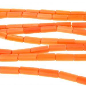 "9511 - 4x13mm Rectangle Cat's Eye Beads (16"" Strand)- Orange"