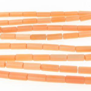 """9511 - 4x13mm Rectangle Cat's Eye Beads (16"""" Strand)- Light Orange"""
