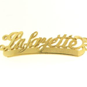 # 9708 - 14K Gold Filled Name Plate For 2 Line Bracelet - La,Fayette
