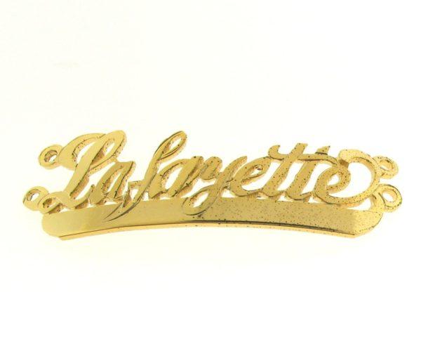 # 9708 - 14K Gold Filled Name Plate For 2 Line Bracelet - La,Fayette