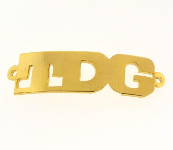# 9735 - 14K Gold Filled Name Plate For Bracelet - TDG