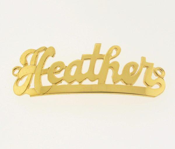 # 9727 - 14K Gold Filled Name Plate For Bracelet - Heather