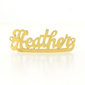 # 9727 - 14K Gold Filled Name Plate For Bracelet - Heather