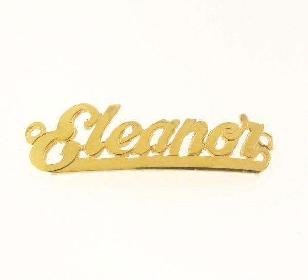 # 9725 - 14K Gold Filled Name Plate For Bracelet - Eleanor
