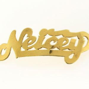 # 9732 - 14K Gold Filled Name Plate For Bracelet - Neicey