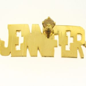 # 9728 - 14K Gold Filled Name Plate For Bracelet - JENNIFER