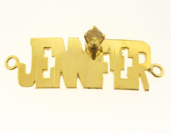 # 9728 - 14K Gold Filled Name Plate For Bracelet - JENNIFER