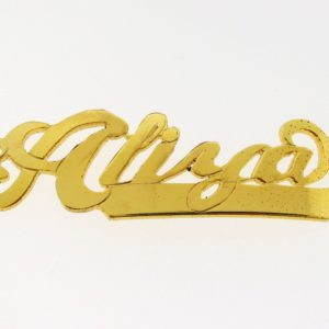 # 9717 - 14K Gold Filled Name Plate For Bracelet - Aliya
