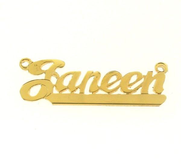 # 9610 - 14K Gold Filled Name Plate For Necklace - Janeen