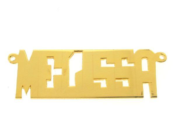# 9616 - 14K Gold Filled Name Plate For Necklace - MELISSA