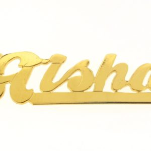 # 9601 - 14K Gold Filled Name Plate For Necklace - Aisha