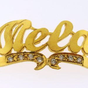 # 9701 - 14K Gold Filled Name Plate For 2 Line Bracelet - Mela