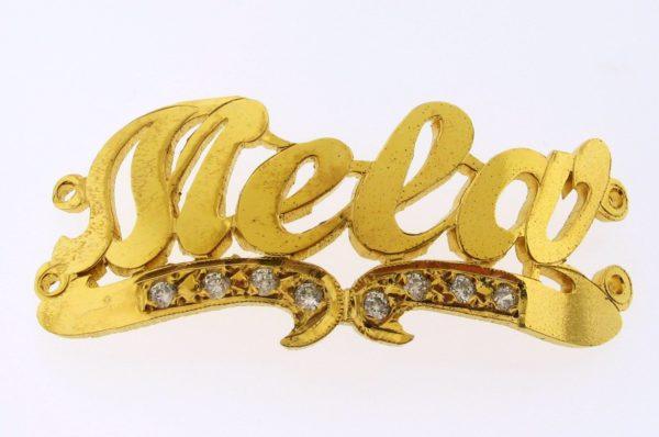 # 9701 - 14K Gold Filled Name Plate For 2 Line  Bracelet - Mela