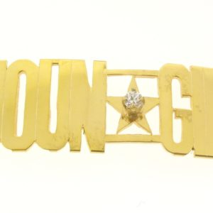 # 9702 - 14K Gold Filled Name Plate For 2 Line Bracelet - YOUN GIN