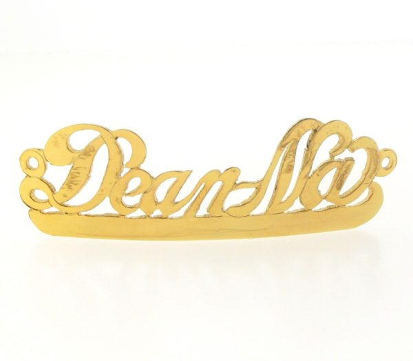 # 9724 - 14K Gold Filled Name Plate For Bracelet - Deanna