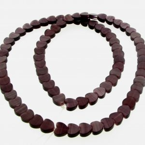 "9514 - 6mm Cat's Eye Puff Hearts (16"" strand) - Amethyst"