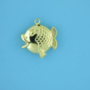 1790 - 21x23mm 14K Gold Filled Pendant - Fish
