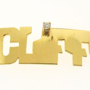 # 9737 - 14K Gold Filled Name Plate For 2 Line Bracelet - CLIFF