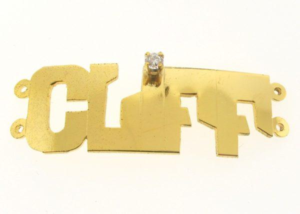 # 9737 - 14K Gold Filled Name Plate For 2 Line Bracelet - CLIFF