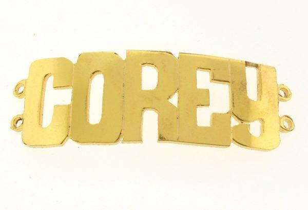 # 9738 - 14K Gold Filled Name Plate For 2 Line Bracelet - COREY