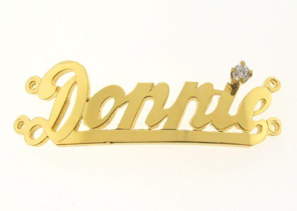 # 9739 - 14K Gold Filled Name Plate For 2 Line Bracelet - Dannie