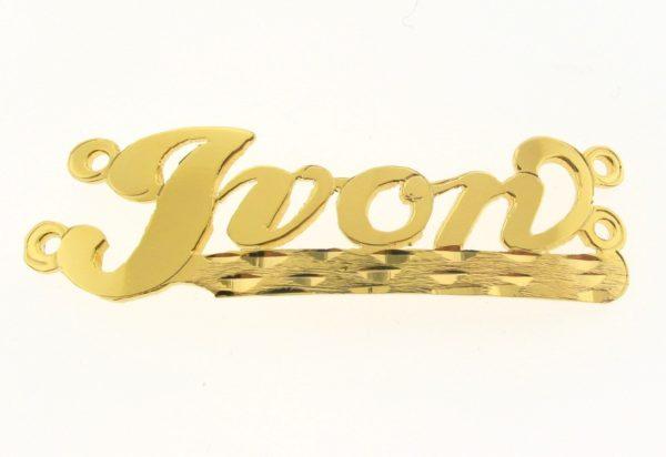 # 9740 - 14K Gold Filled Name Plate For 2 Line Bracelet - Ivon